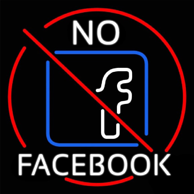 No-Facebook-Neon-Sign