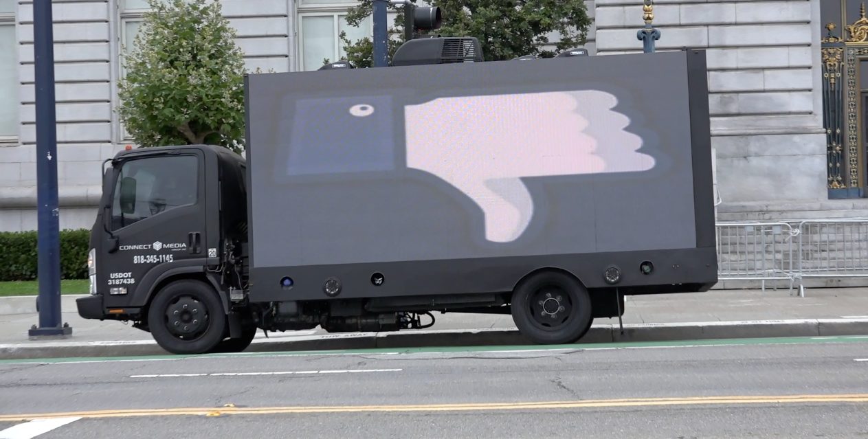 Mobile Billboard -- thumbs down